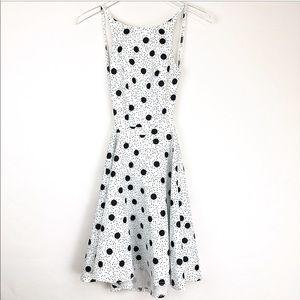 ASOS | Polka dots open back mini dress NWT
